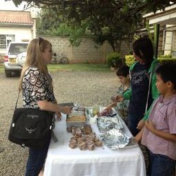 The kids have a baked goods sell at our SIM office in Nairobi.