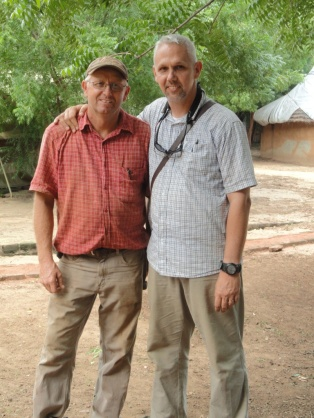 Mark and missionary Bob Ihrig in Doro