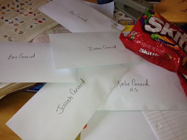 Skittles letters