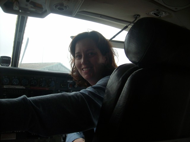 FLYING WITH MAF ( Missionary Aviation Fellowship) TO JUBA - I get to sit in the cockpit!!