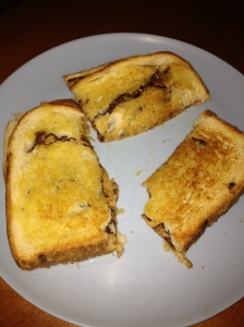Culinary Skills Developed. This is Isaac's Grilled Peanut Butter and Nutella Sandwich