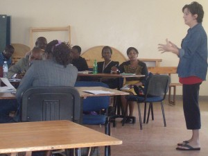 Stacey co-leads a Trauma Healing Advanced Equipping Session for 20 South Sudanese refugees in Kenya